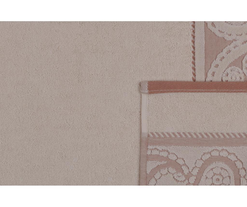Set 2 prosoape de baie Hurrem Cream 50x90 cm