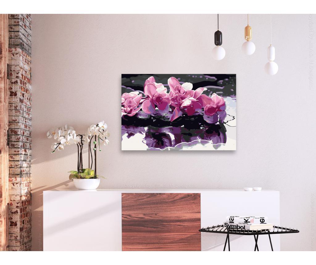 Kit tablou canvas DIY dupa numere Purple Orchid 40x60 cm