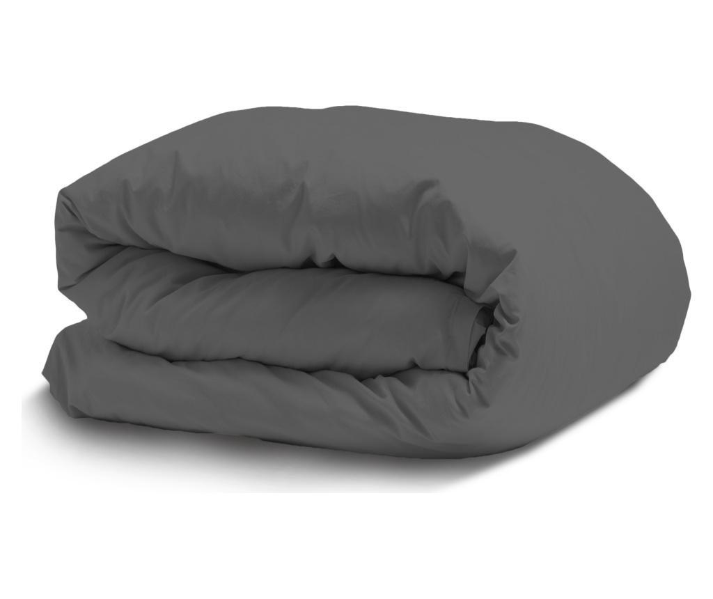 Poszwa na kołdrę Satin Elastic Dark Grey 200x200 cm