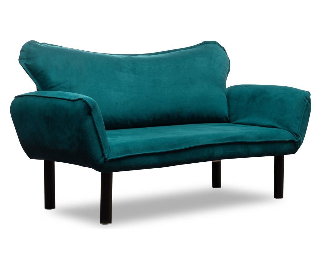 Rozkładana kanapa dwuosobowa Marylen Blue Petrol