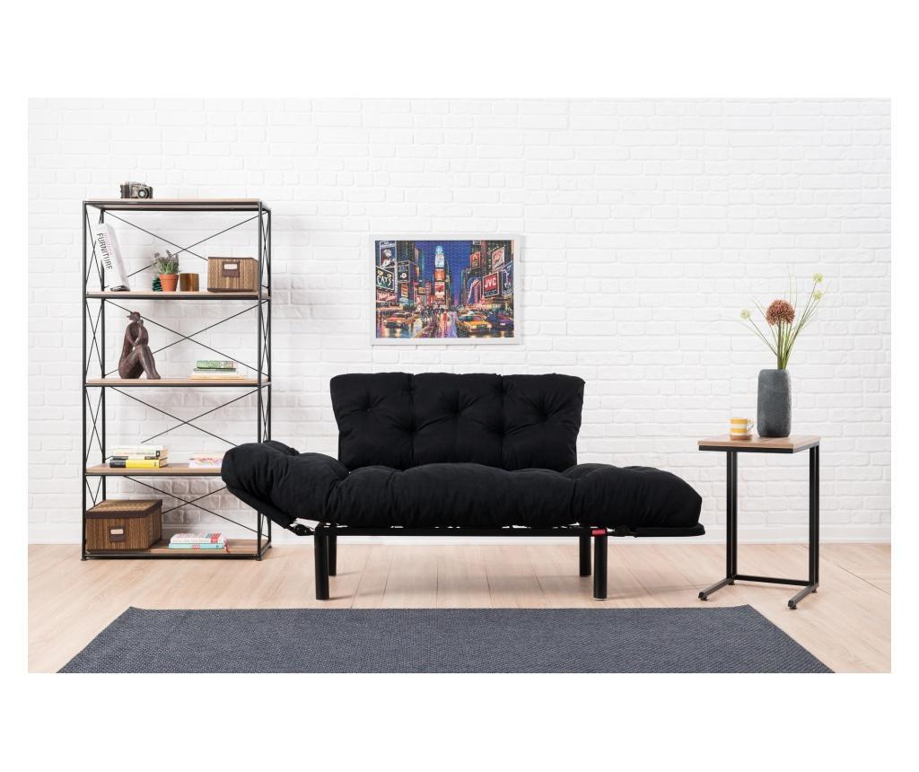 Rozkładana kanapa 2-osobowa Nitta Black