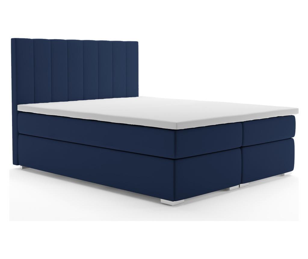 Łóżko kontynentalne Saint Tropez Navy Blue 140x200 cm