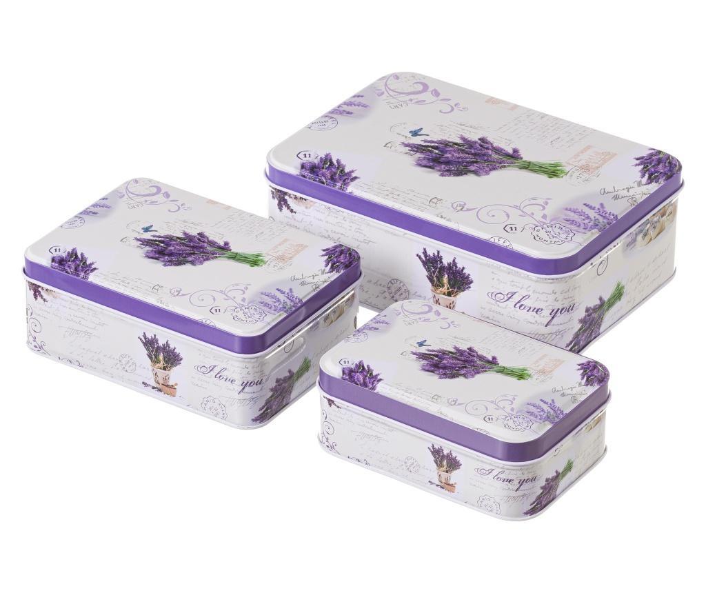 Set 3 kutije s poklopcem