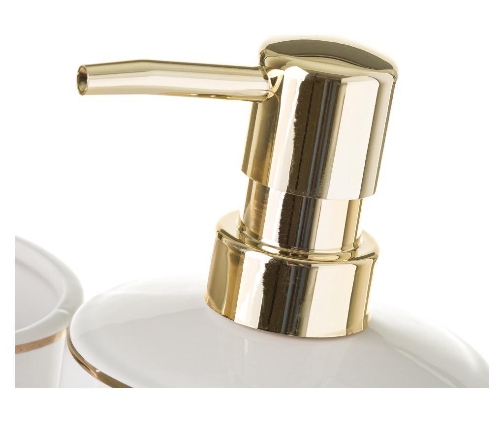 Elegance Gold Szappanadagoló és fogkefe tartó