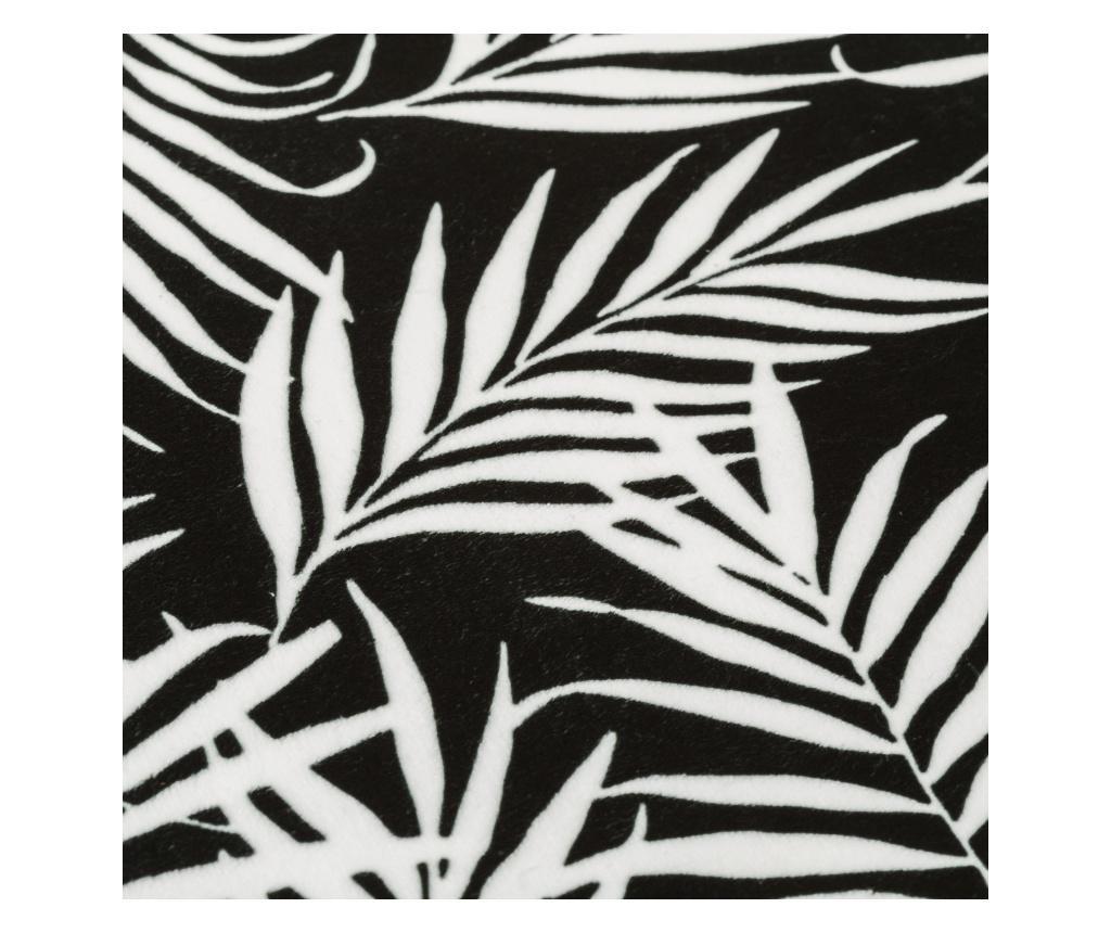 Covoras de baie Palm Black 45x70 cm