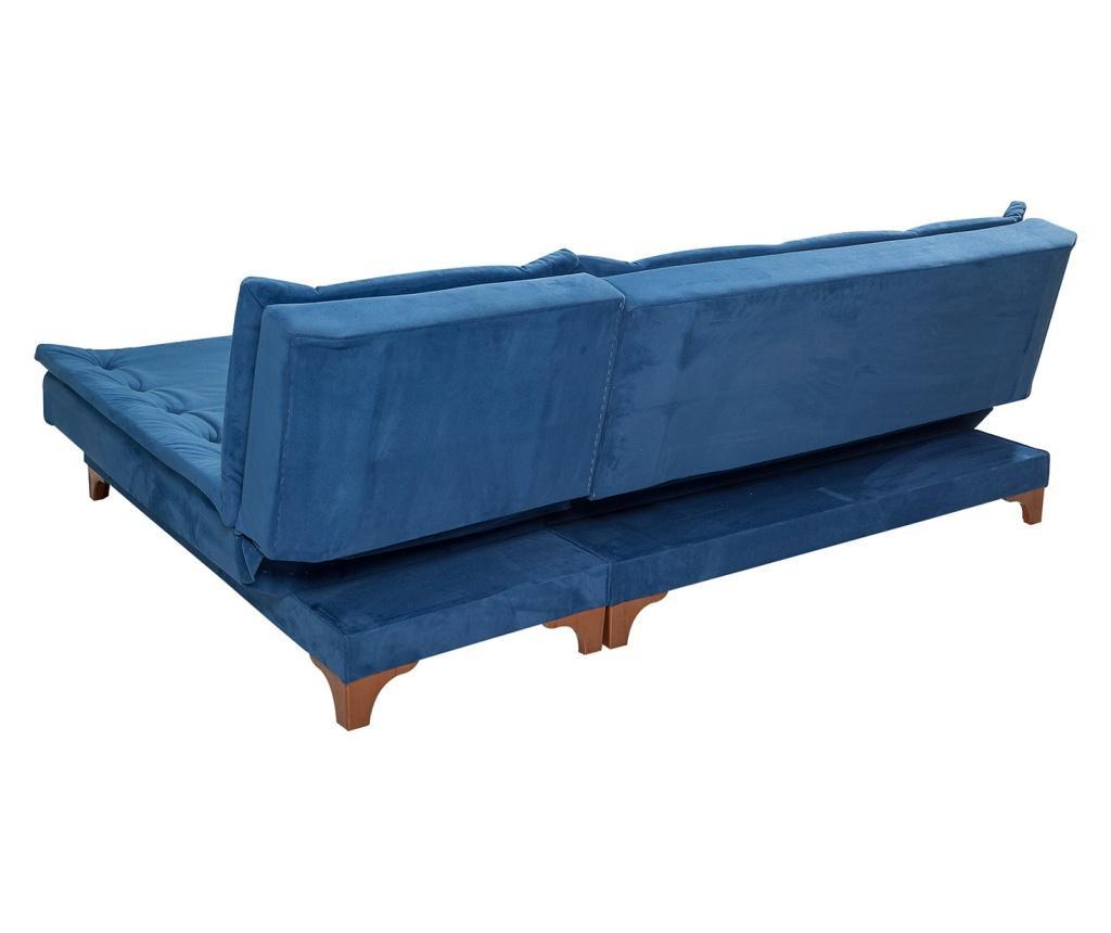 Raztegljiva desna kotna sedežna garnitura Dark Blue