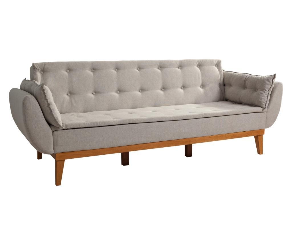 Cream Kihúzható háromszemélyes kanapé