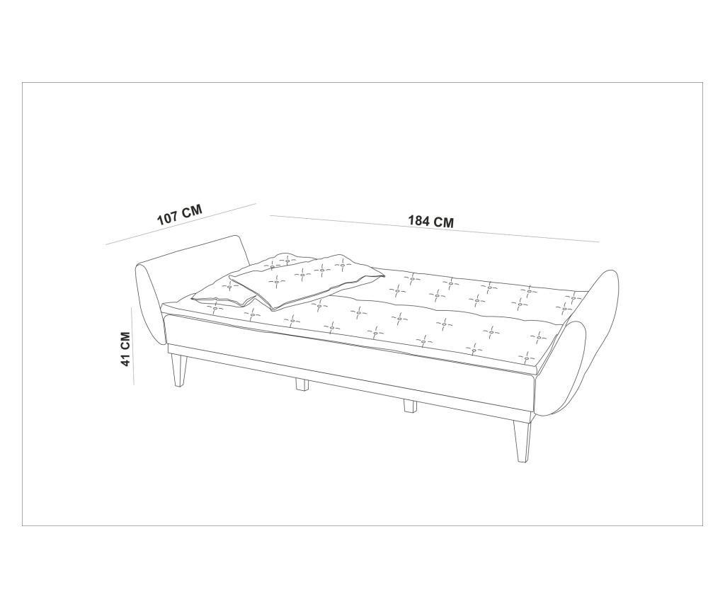 Green Kihúzható háromszemélyes kanapé