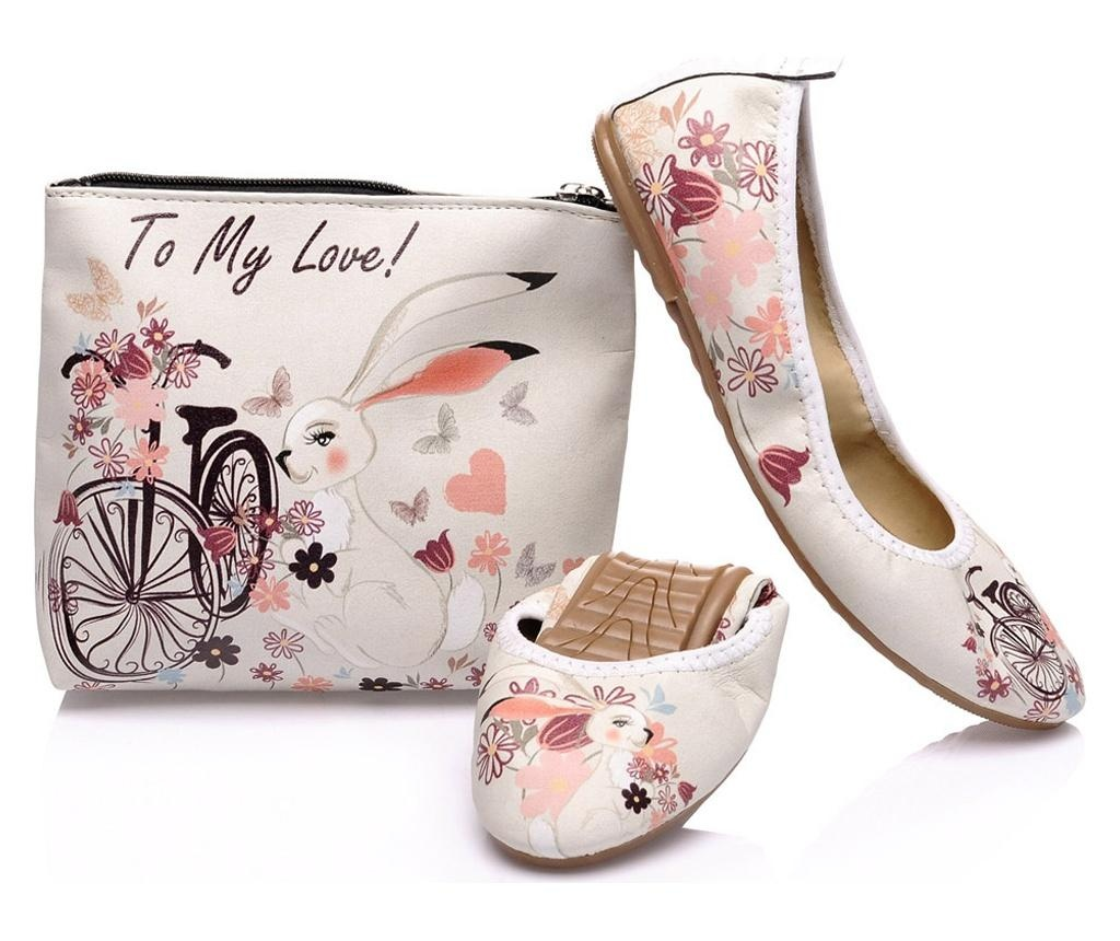 Foldy Multicolor Összecsukható lapos cipő hordtáskával 39