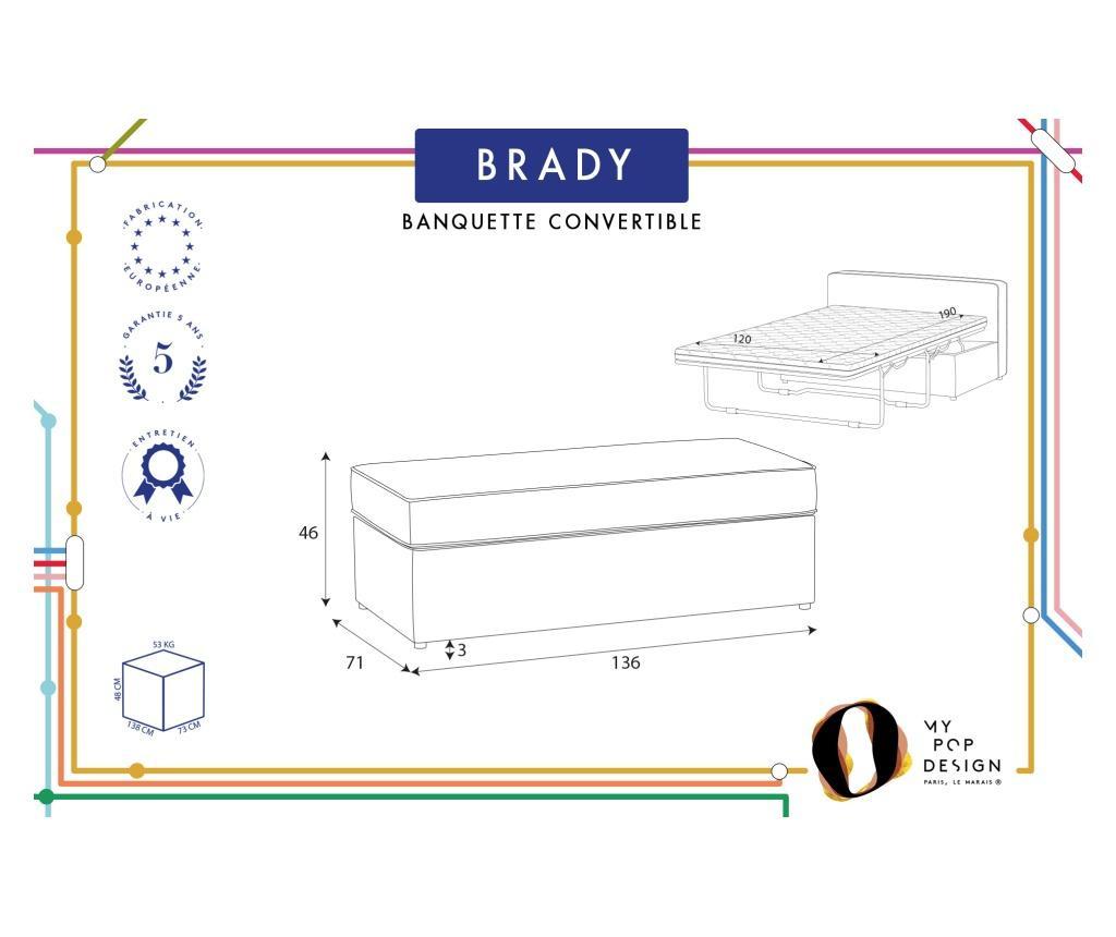 Bancheta extensibila Brady 130 Uni Blue