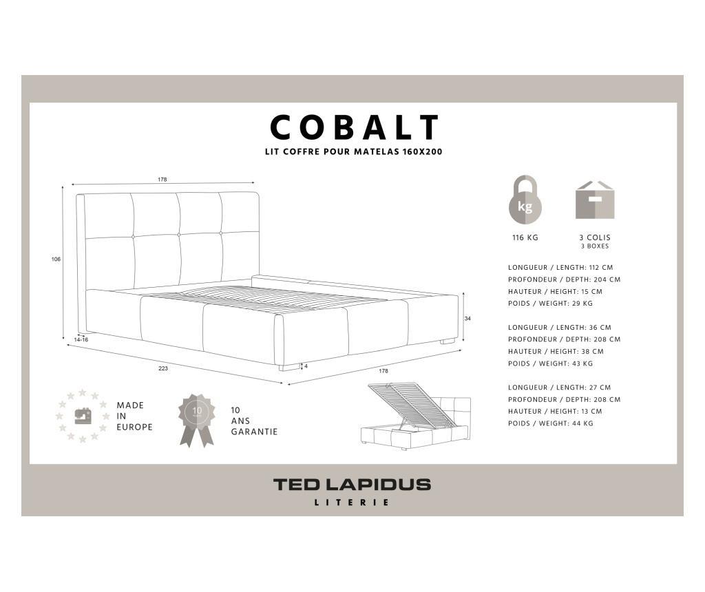 Pat Cobalt Beige 160x200 cm