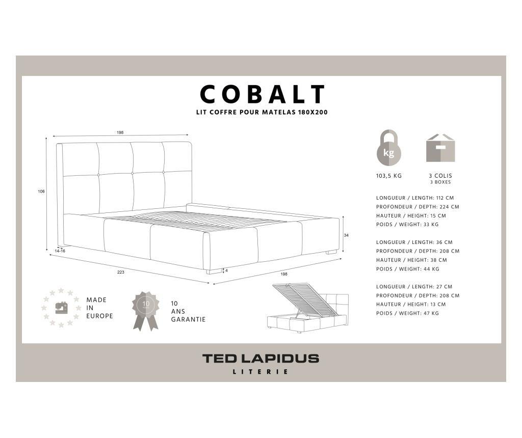 Postelja Cobalt Beige 180x200 cm