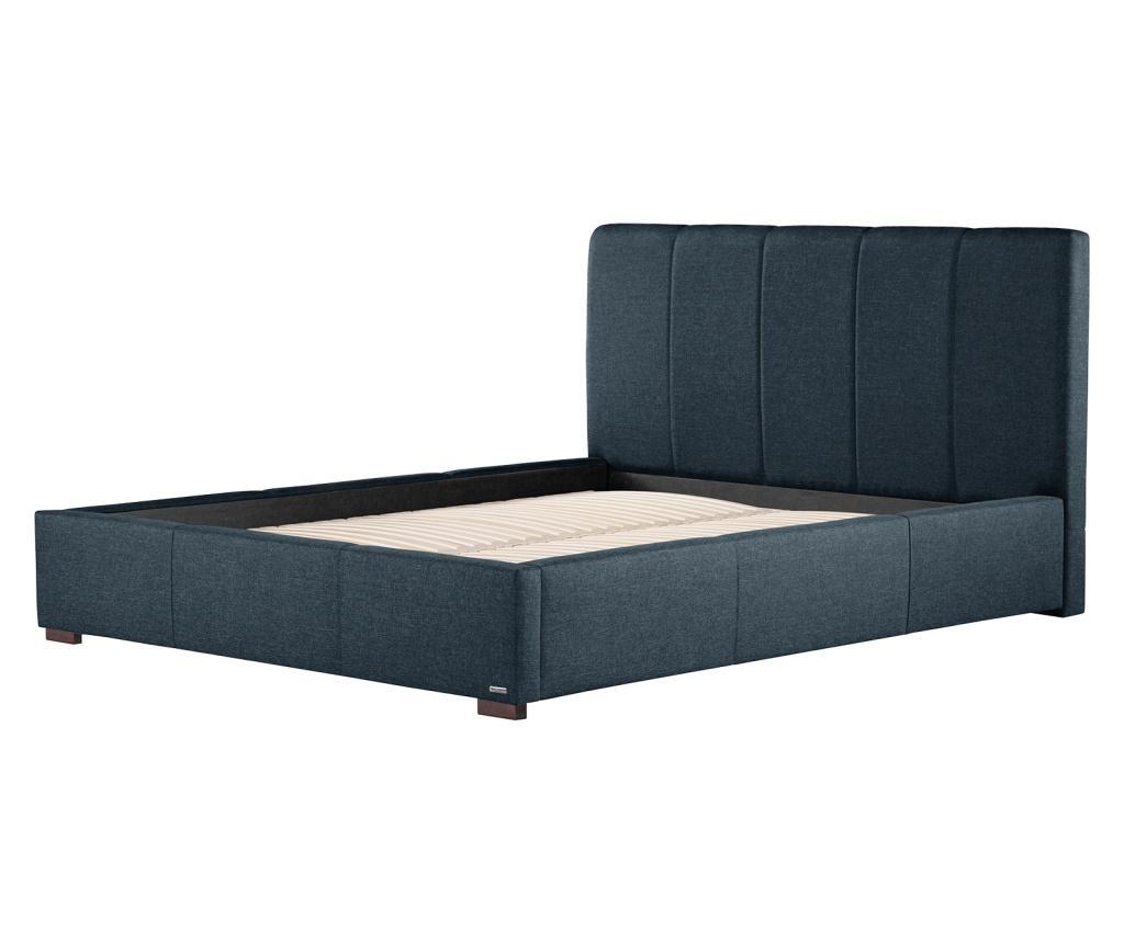 Postel s úložným prostorem Onyx Marine Blue 160x200 cm