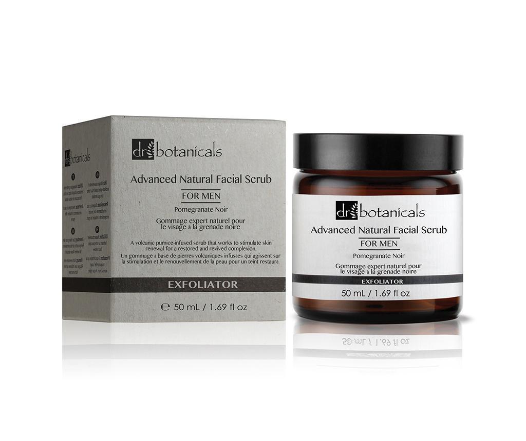 Pomegranate Noir Advanced Natural Scrub Arctisztító bőrradír férfiaknak 50 ml
