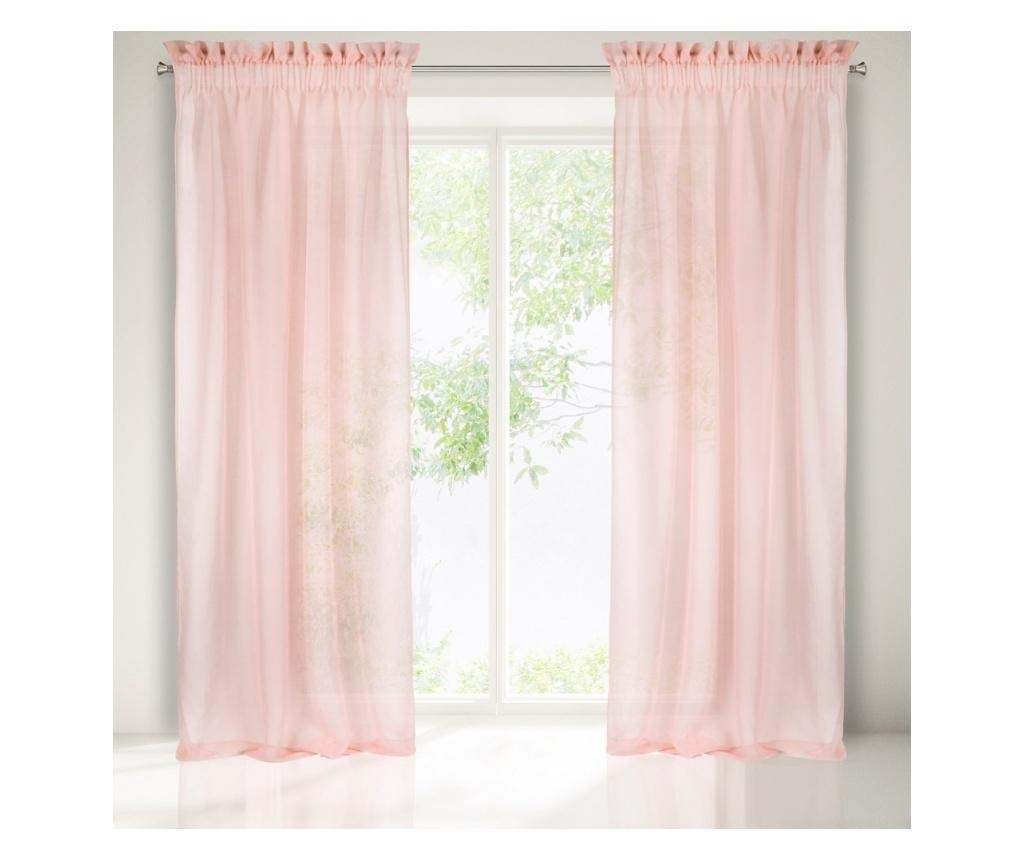 Záclona Metis Pink 140x300 cm