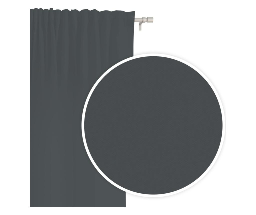 Záves Hold Tape Dark Grey 140x250 cm