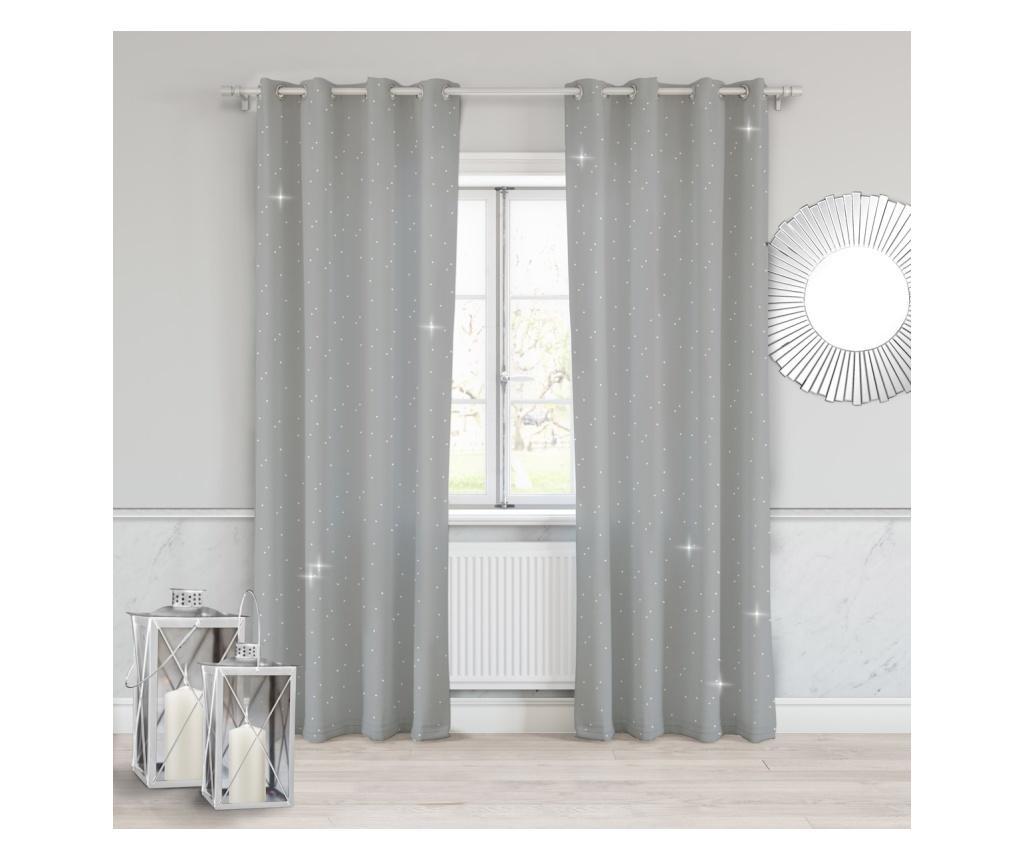 Zasłona Crystal Grey 140x250 cm