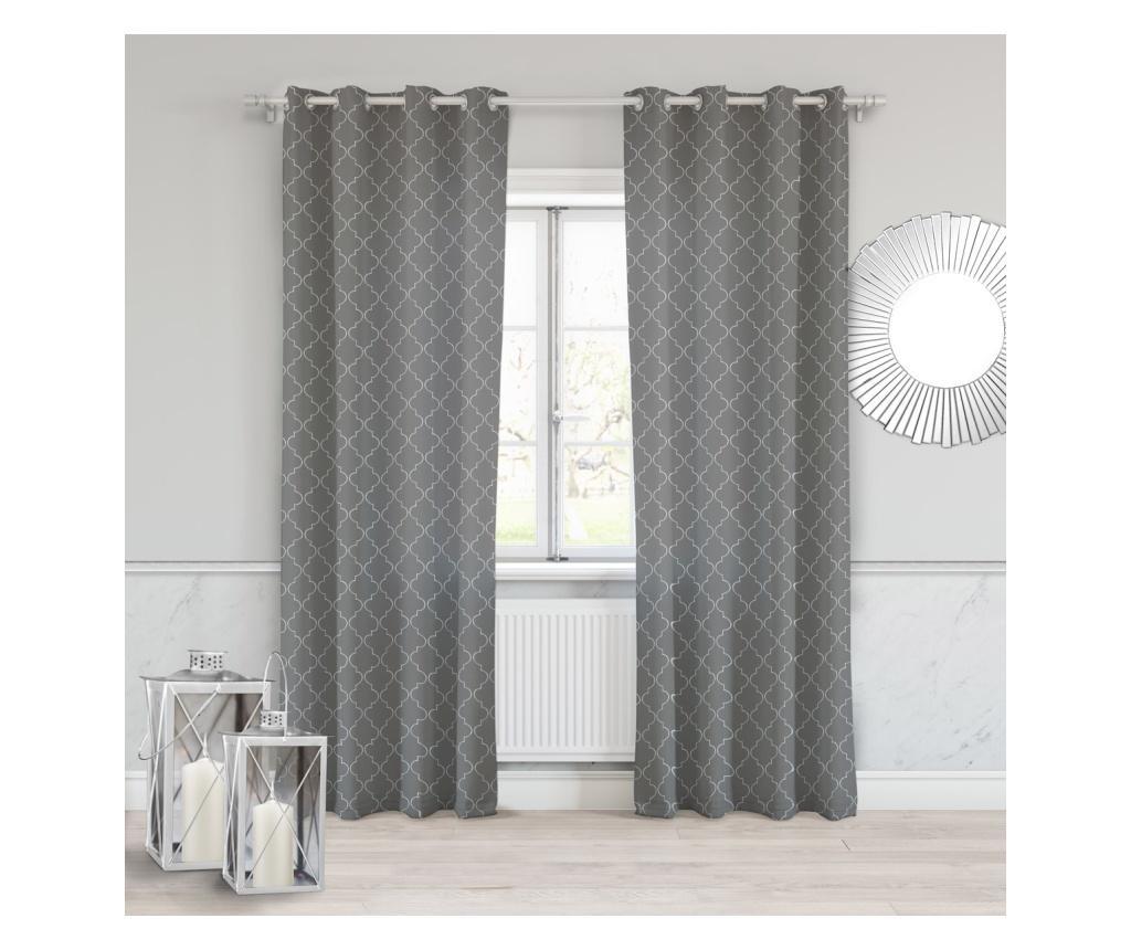 Maroko Dark Grey Sötétítő 140x250 cm