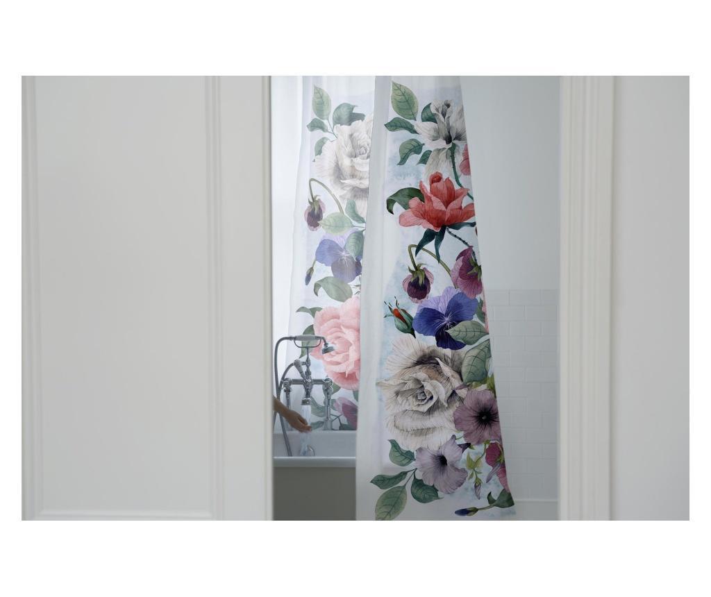 Sprchový závěs Flowers 180x200 cm