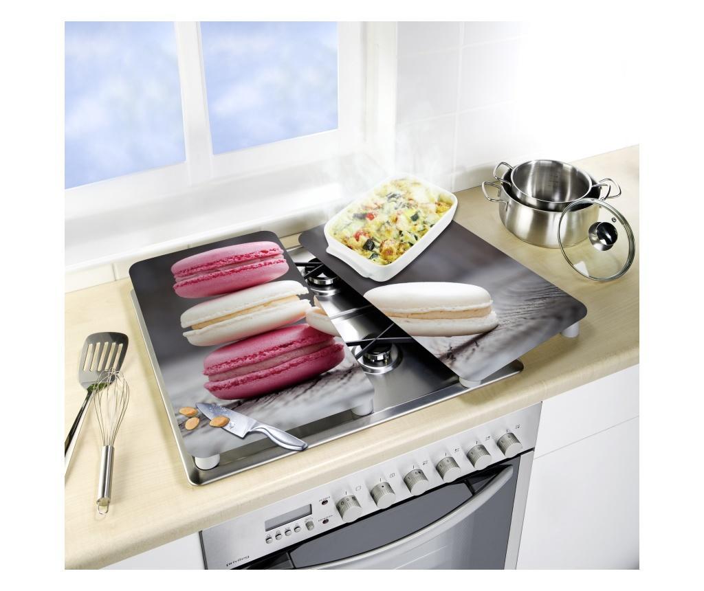 2 zaštitne ploče za štednjak Universal Macarons