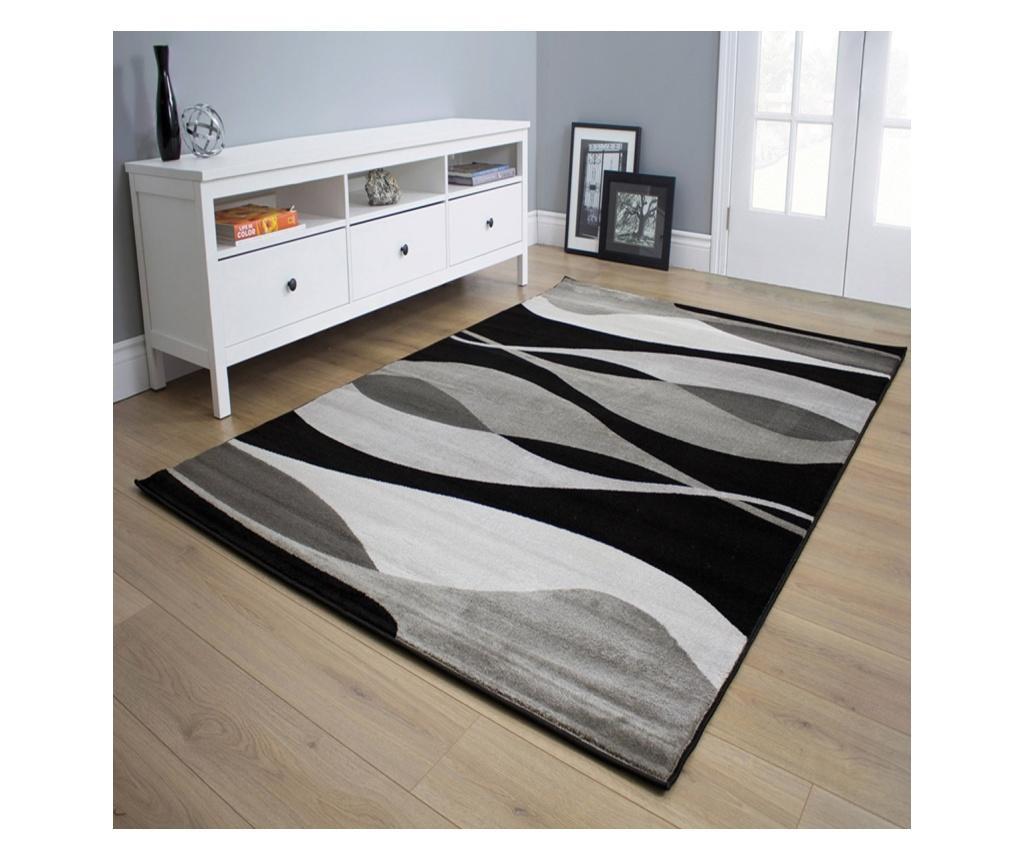 Covor Manhattan Hudson Grey Black 80x150 cm