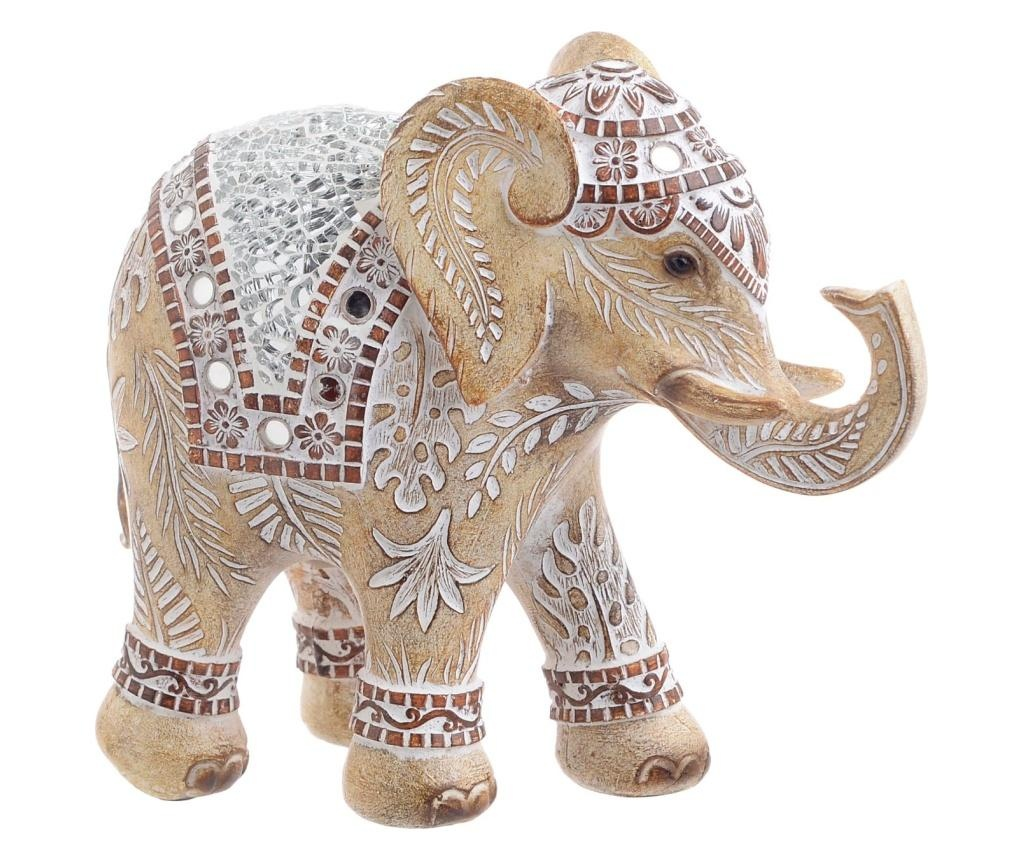 Decoratiune Elephant Beige M