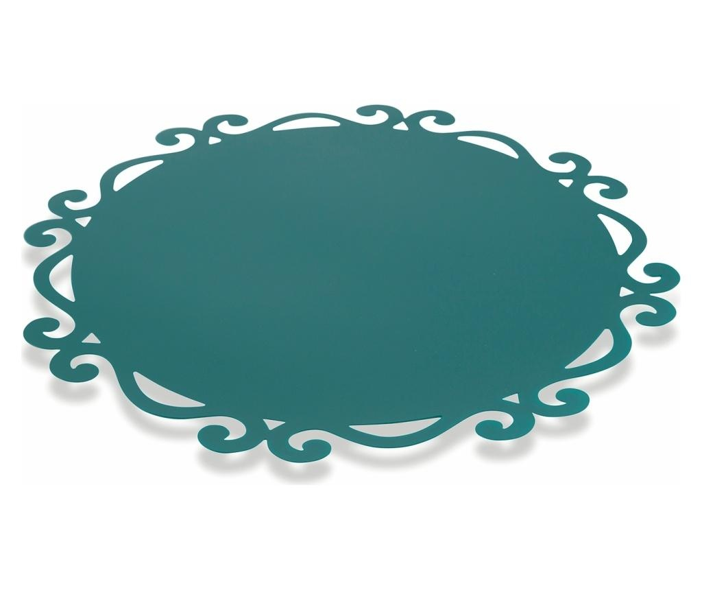 Set 6 podmetača Dorian Round Blue 44 cm