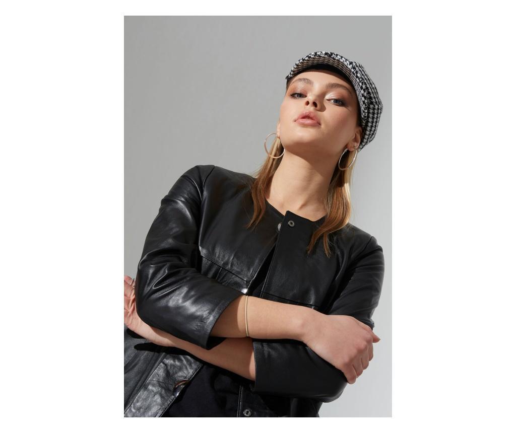 Jacheta piele dama Iparelde Black XL