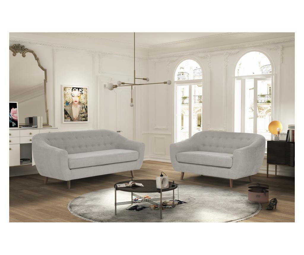 Canapea 3 locuri Vicky Light Grey