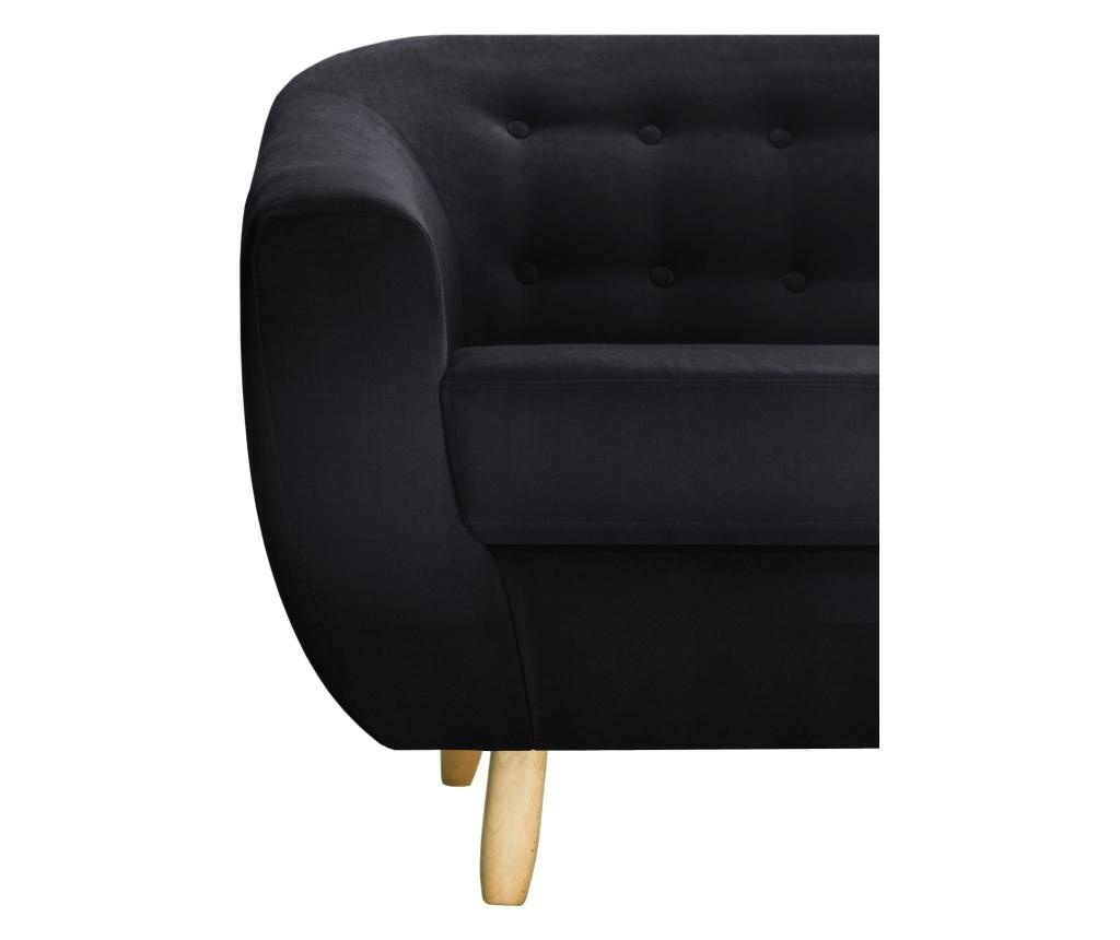 Canapea 3 locuri Vicky Black