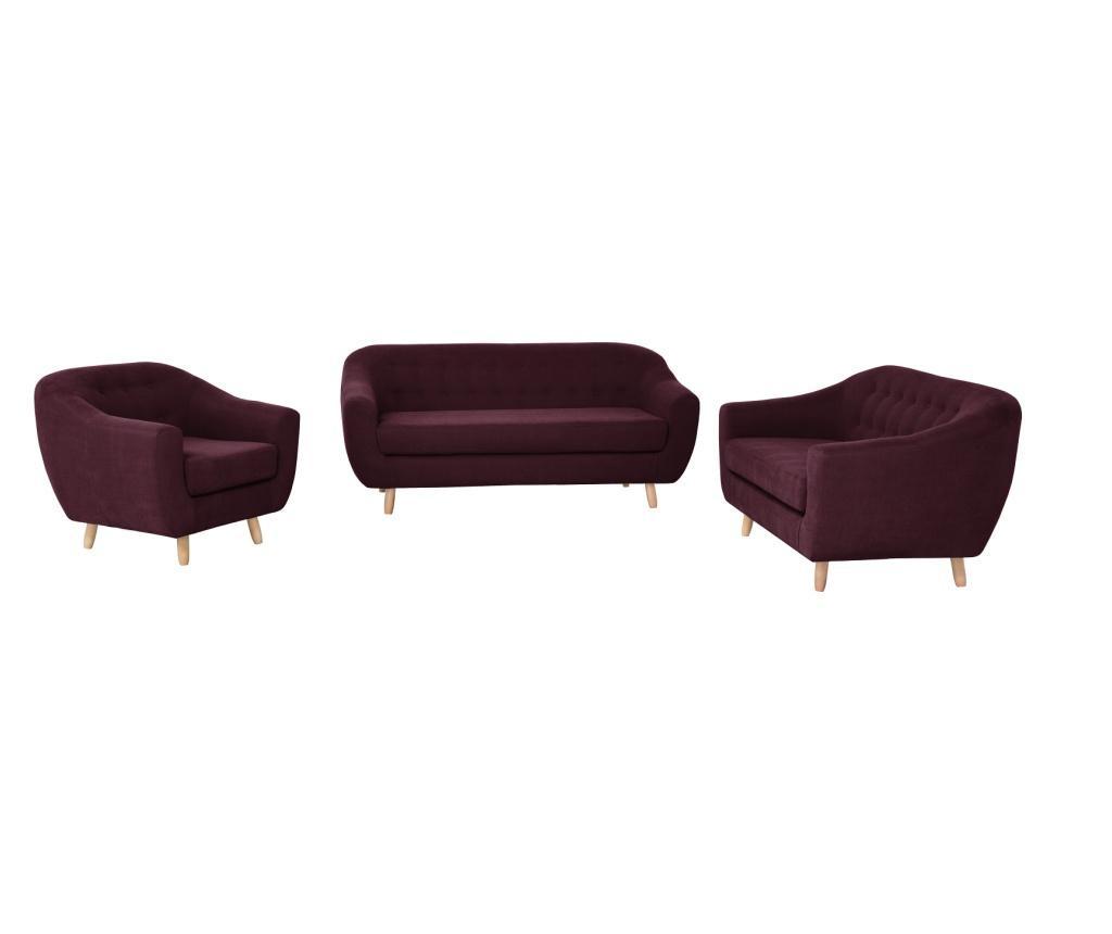 Canapea 3 locuri Vicky Bordeaux