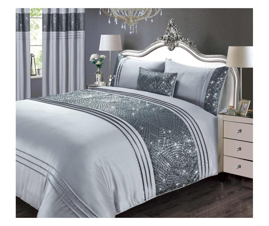 Set de pat Single Charleston Grey lenjerie de pat craciun lenjerii de pat astratex vivre bumbac frumoase de calitate