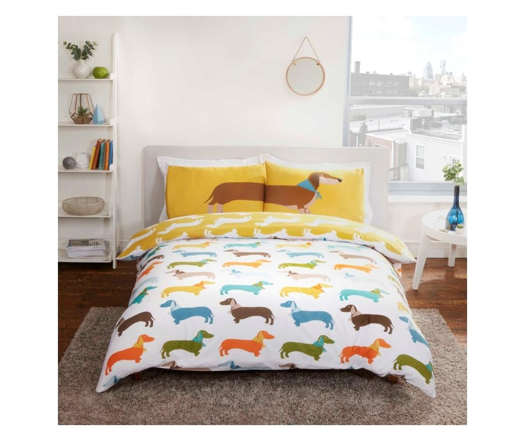 Obojstranná sada posteľná bielizeň Double Extra Sausage Dog