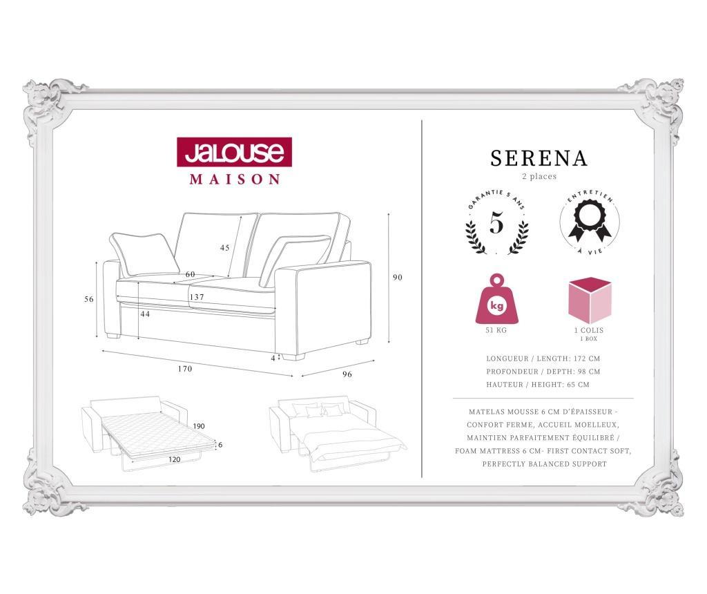 Serena Mint Kétszemélyes kihúzható  kanapé
