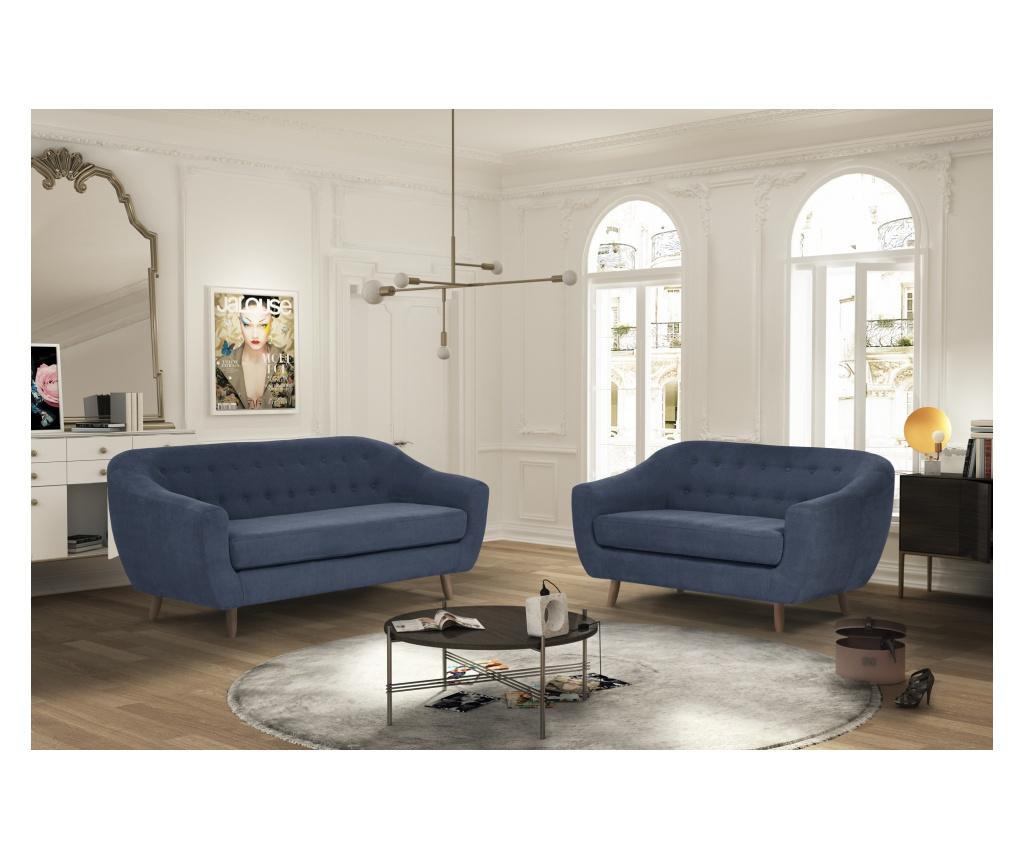 Canapea 3 locuri Vicky Navy Blue