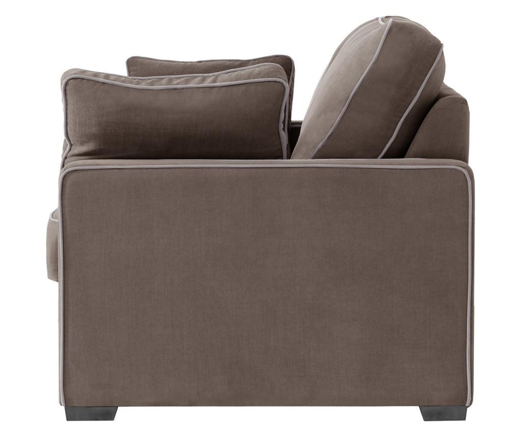 Canapea extensibila 2 locuri Serena Chocolate
