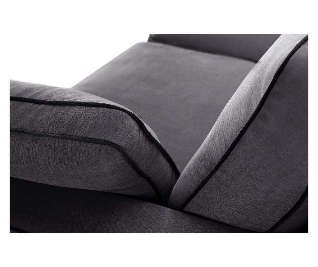Canapea extensibila 2 locuri Serena Anthracite