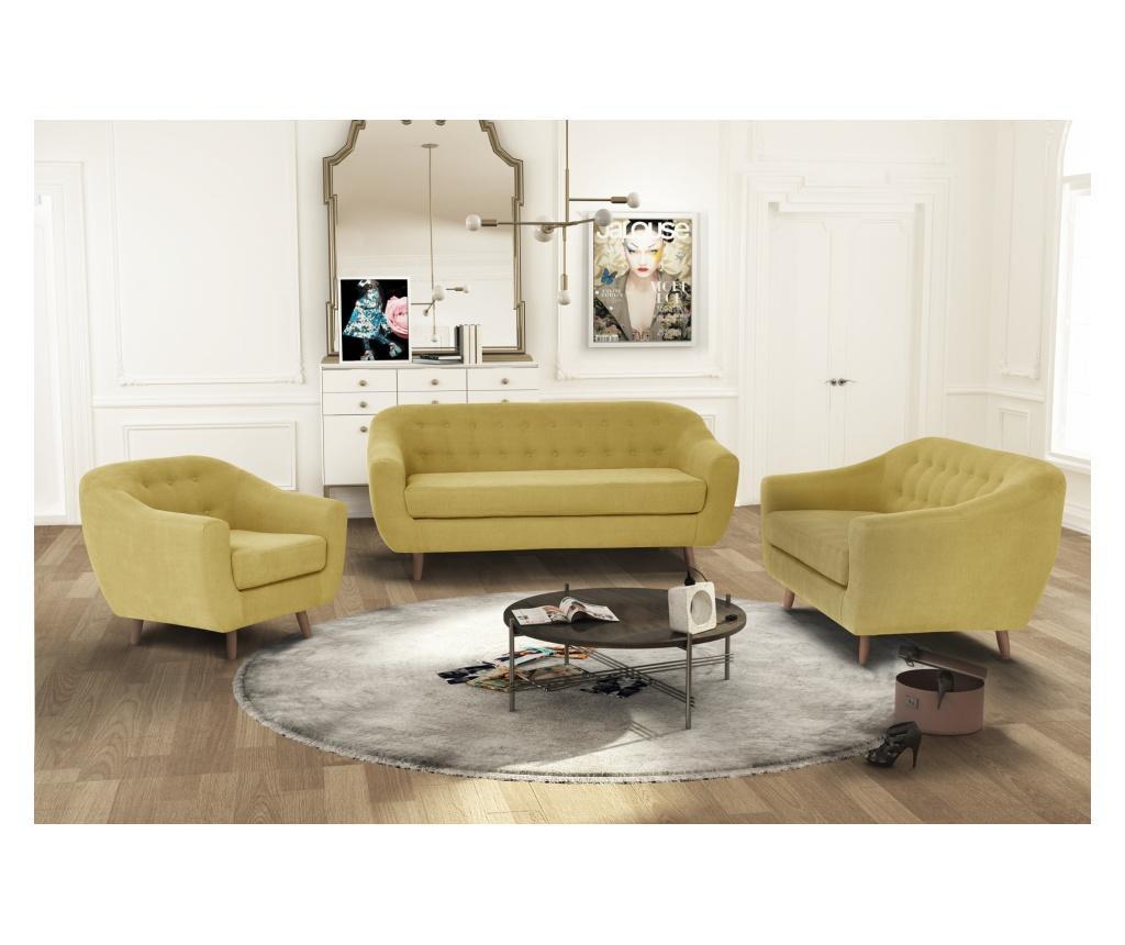 Canapea 3 locuri Vicky Yellow
