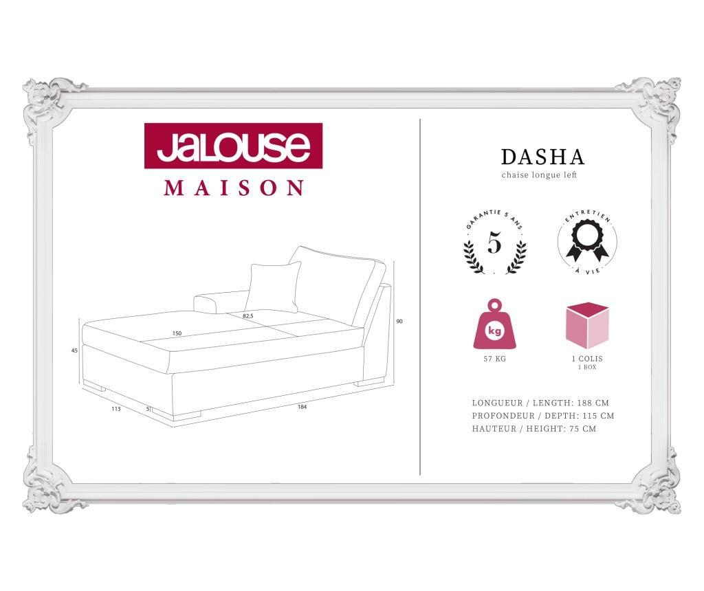 Dasha Light Grey Baloldali nappali heverő