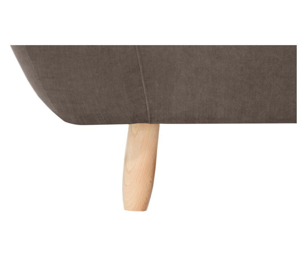 Canapea 3 locuri Vicky Chocolate