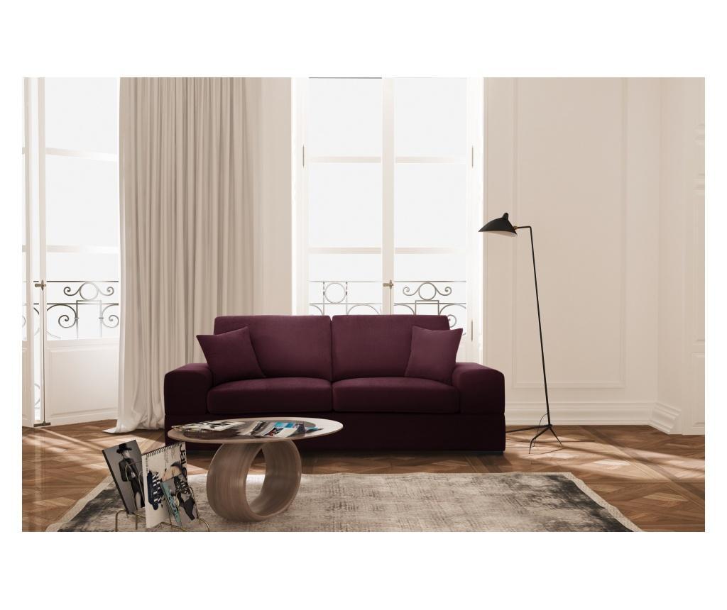 Canapea extensibila 3 locuri Dasha Bordeaux