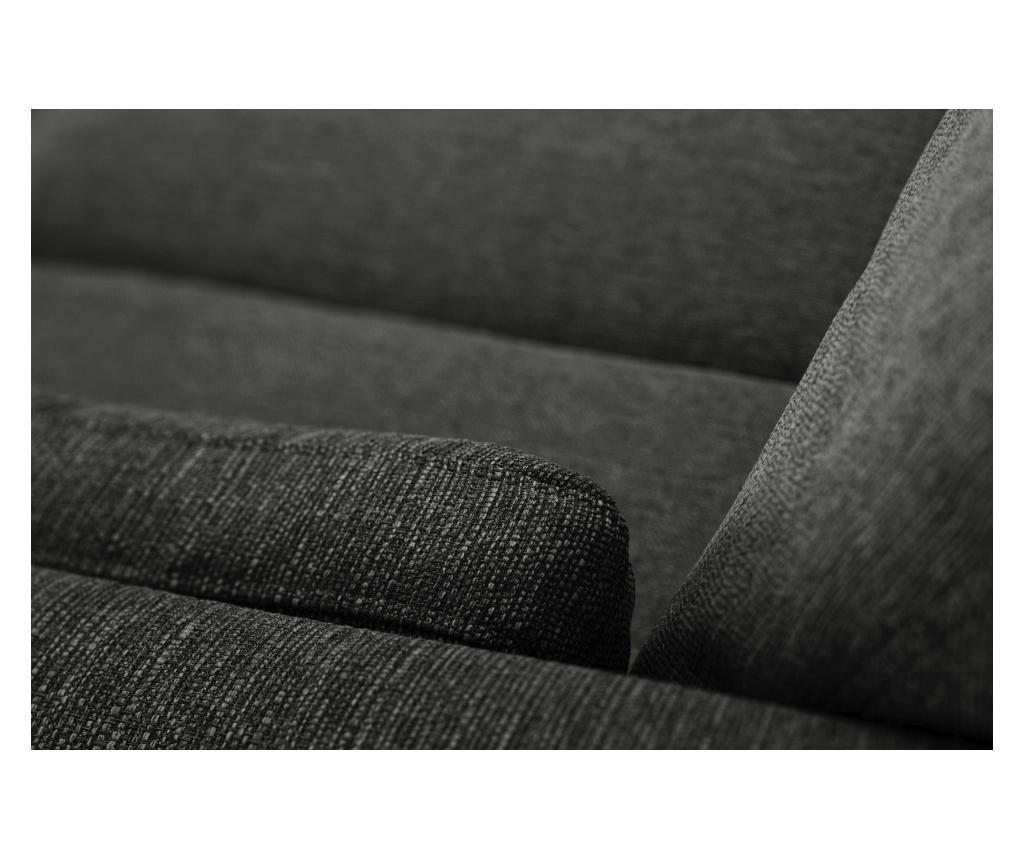 Elisa Anthracite Háromszemélyes kanapé