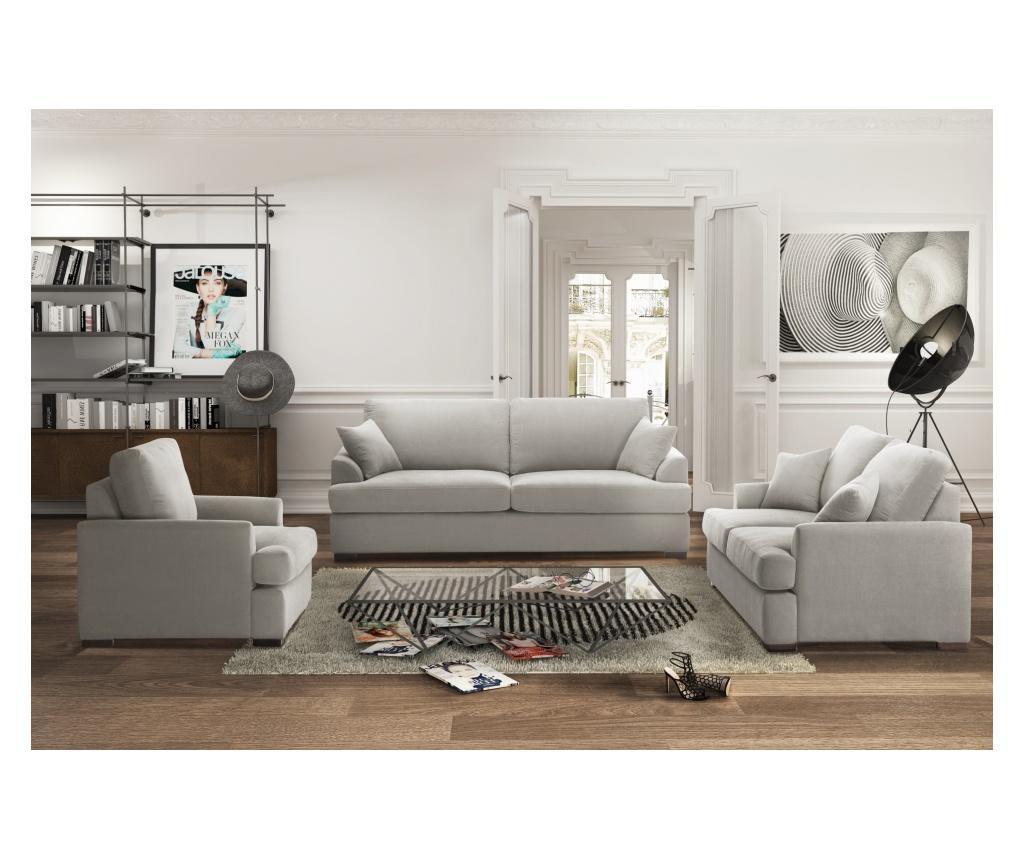 Canapea extensibila 2 locuri Irina Light Grey