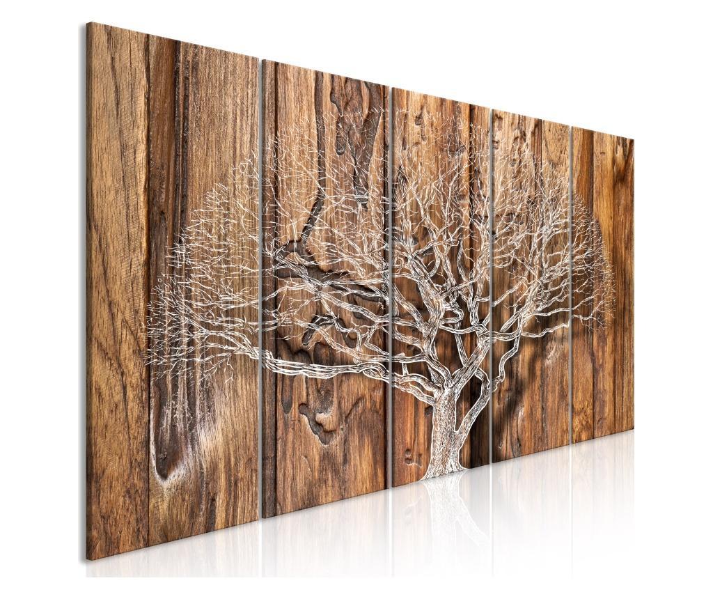 Set 5 tablouri Tree Chronicle (5 Parts) Narrow 200x80