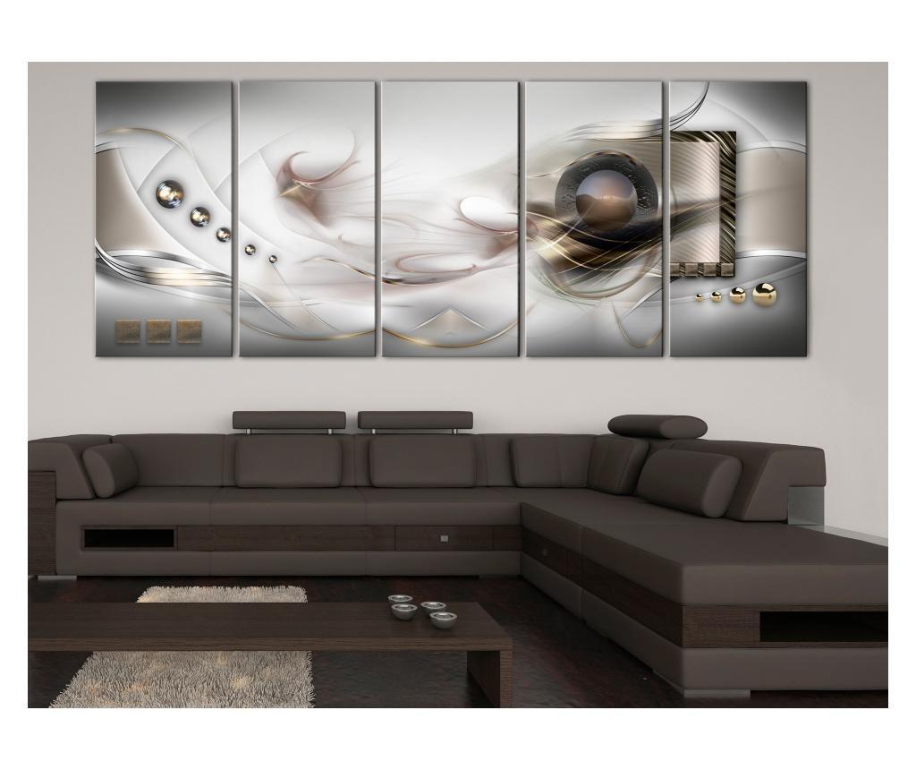 Set 5 tablouri Pearly Mist (5 Parts) Narrow 225x90