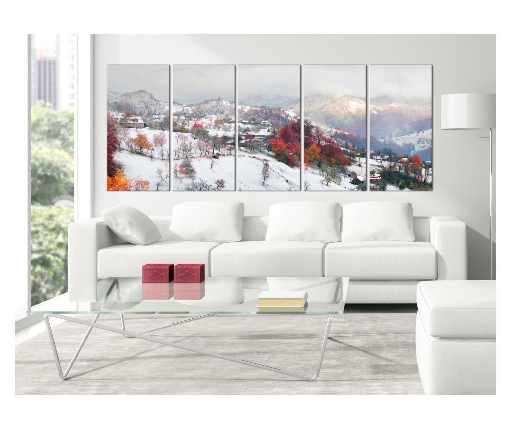 Set 5 tablouri First Snow (5 Parts) Narrow 200x80