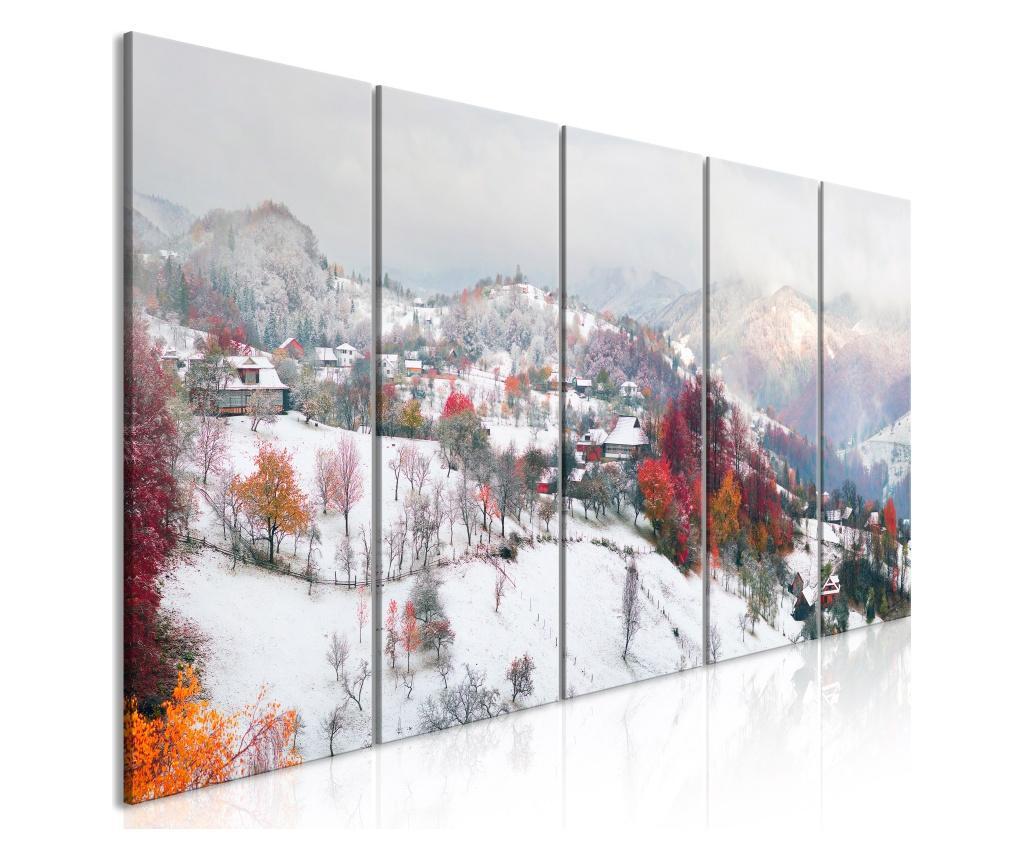 Set 5 tablouri First Snow (5 Parts) Narrow 225x90