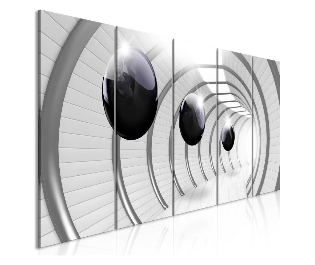 Set 5 tablouri Space Tunnel (5 Parts) Narrow 200x80