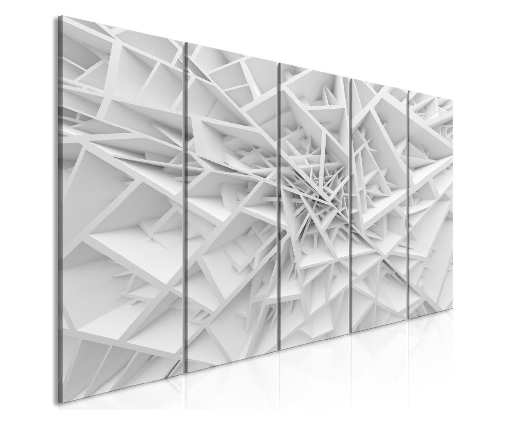 Set 5 tablouri Complicated Geometry (5 Parts) Narrow 200x80