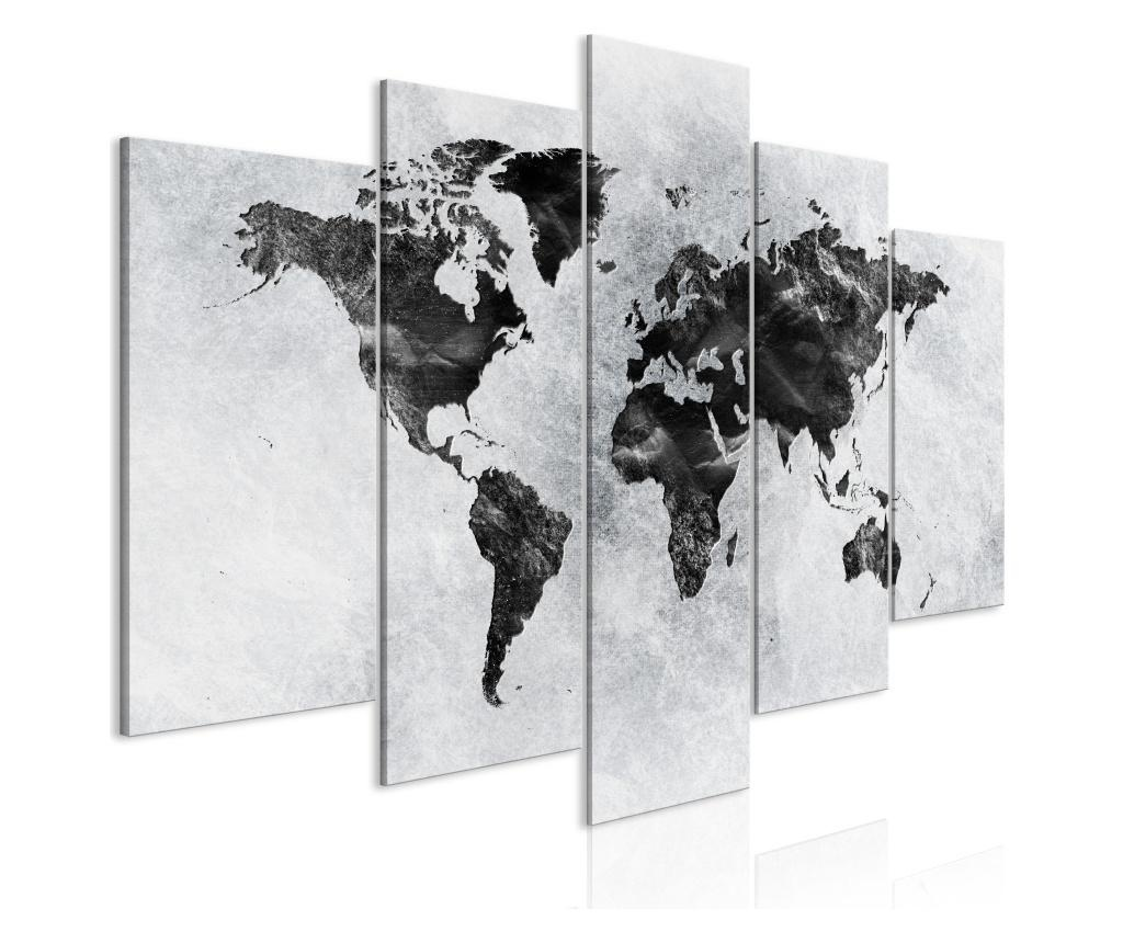 Set 5 tablouri Concrete World (5 Parts) Wide 200x100